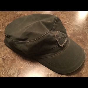 Levi's Strauss Olive Green Distressed Skull Hat